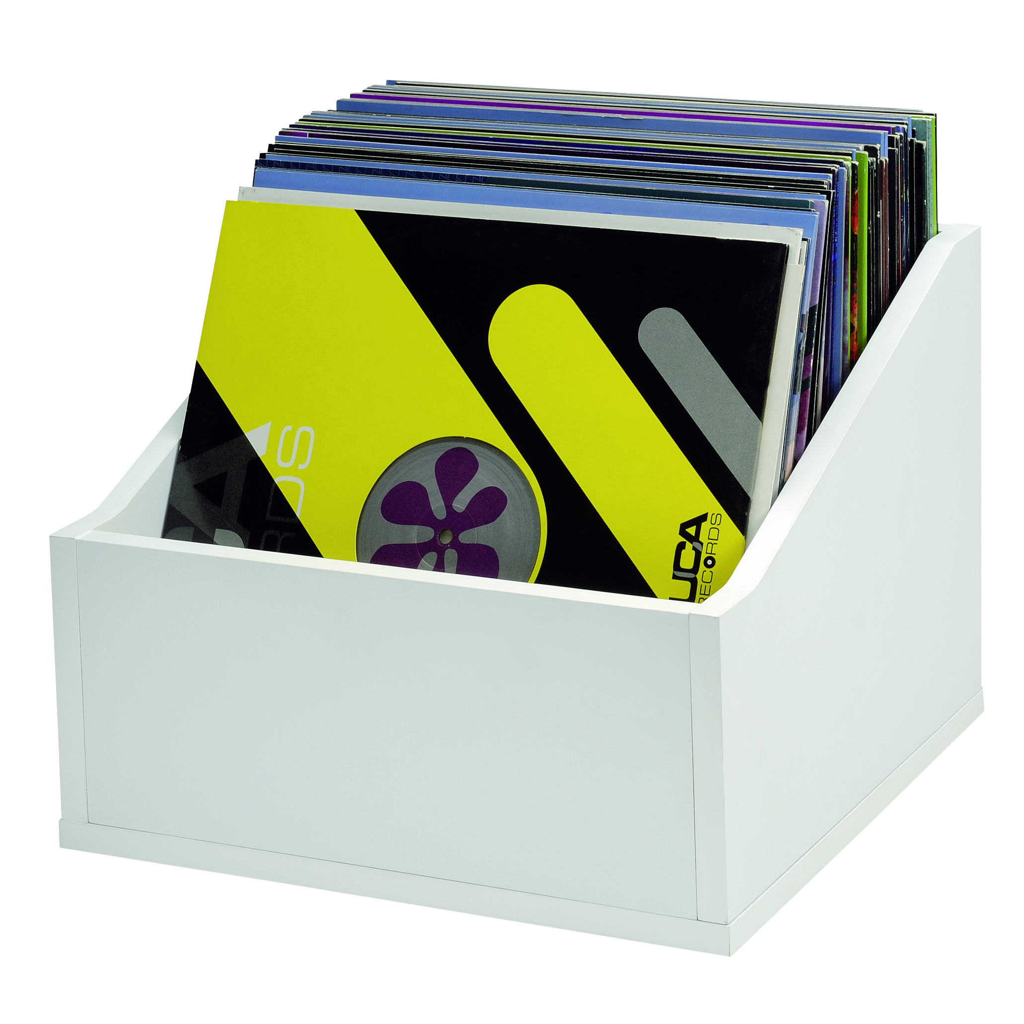 record box advanced 110 white rangements disques meubles dj dj shop terre de son. Black Bedroom Furniture Sets. Home Design Ideas